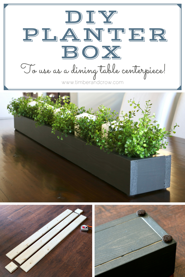 Image of: Diy Planter Box Centerpiece Timber Crow