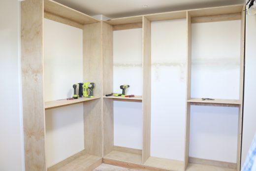 Building a DIY custom closet system in my walk-in master closet!