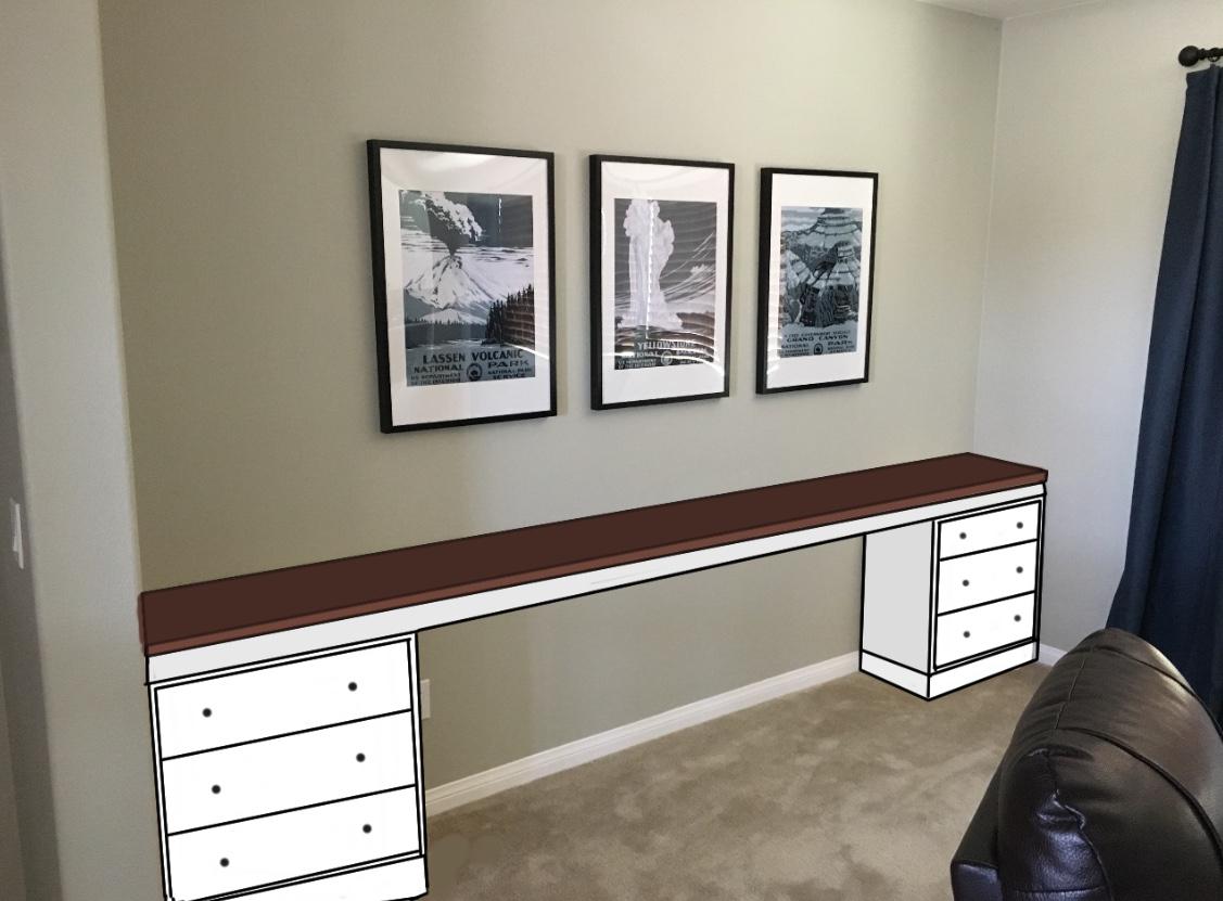 How To Create A Huge Built In Homework Desk Using Ikea Rast Dressers