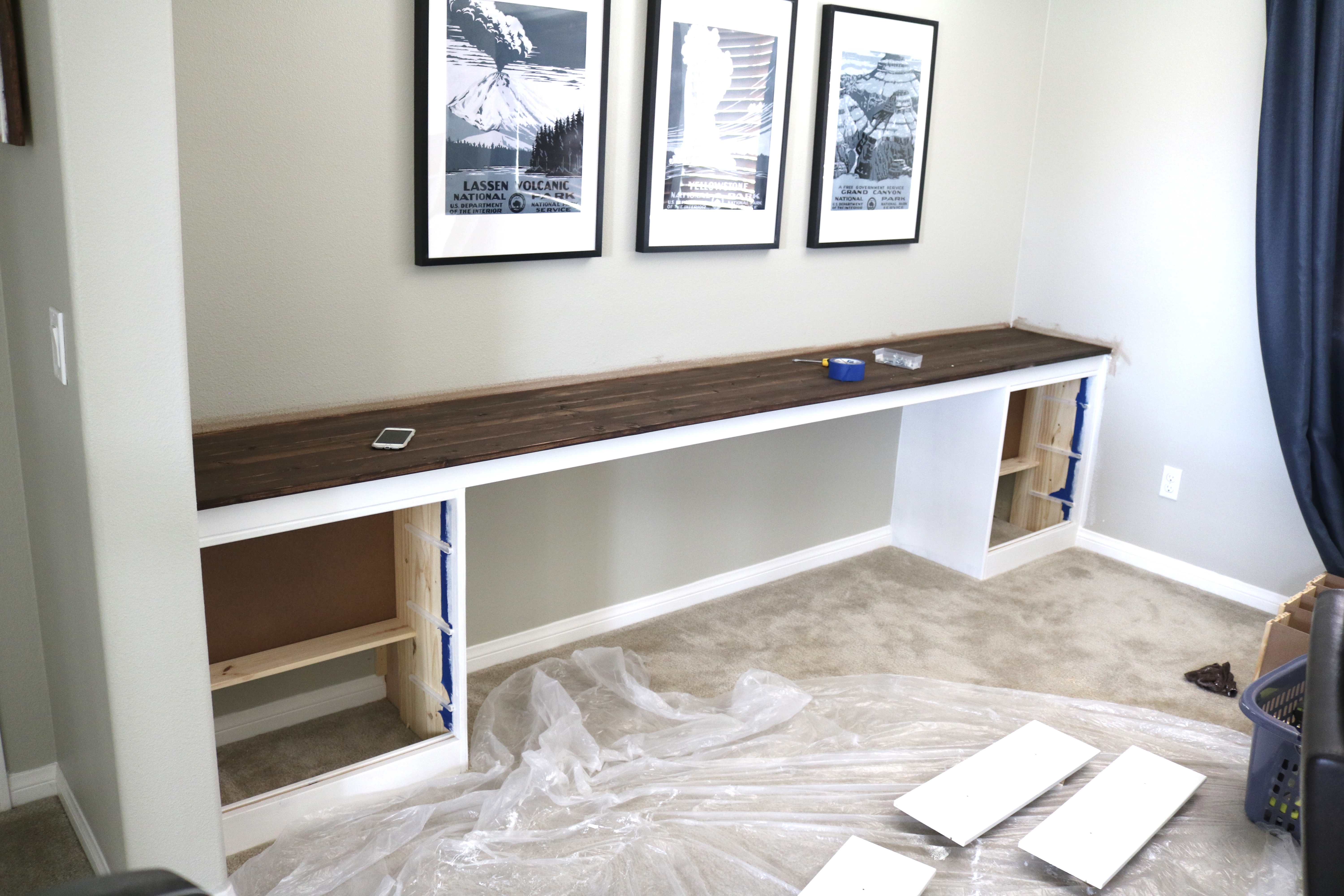 Wall-to-Wall Built-In Desk: Part 2, The Build – TIMBER + CROW