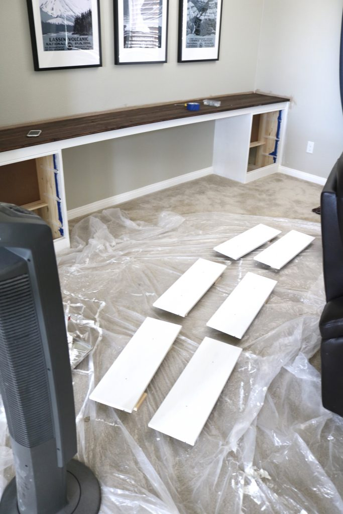 Wall To Wall Built In Desk Part 2 The Build Timber Crow