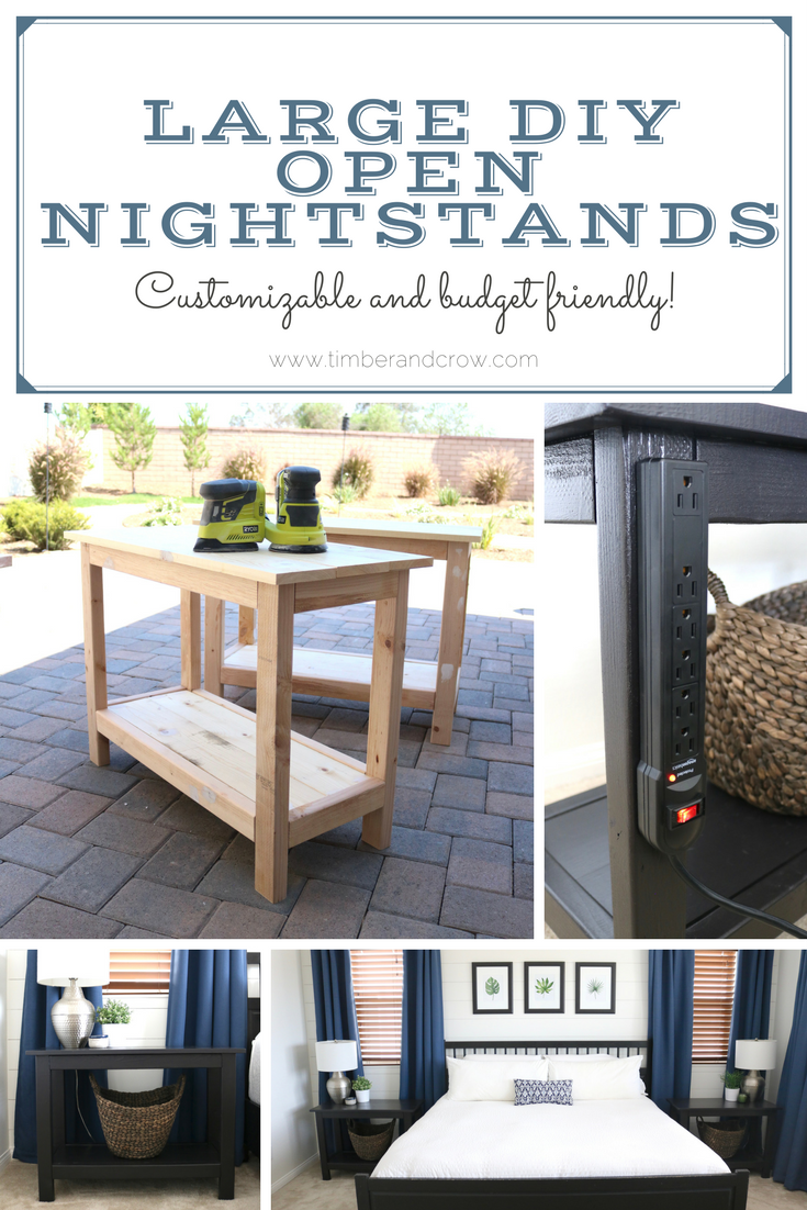 How to build your own large open nightstands or side tables for around $35 each!