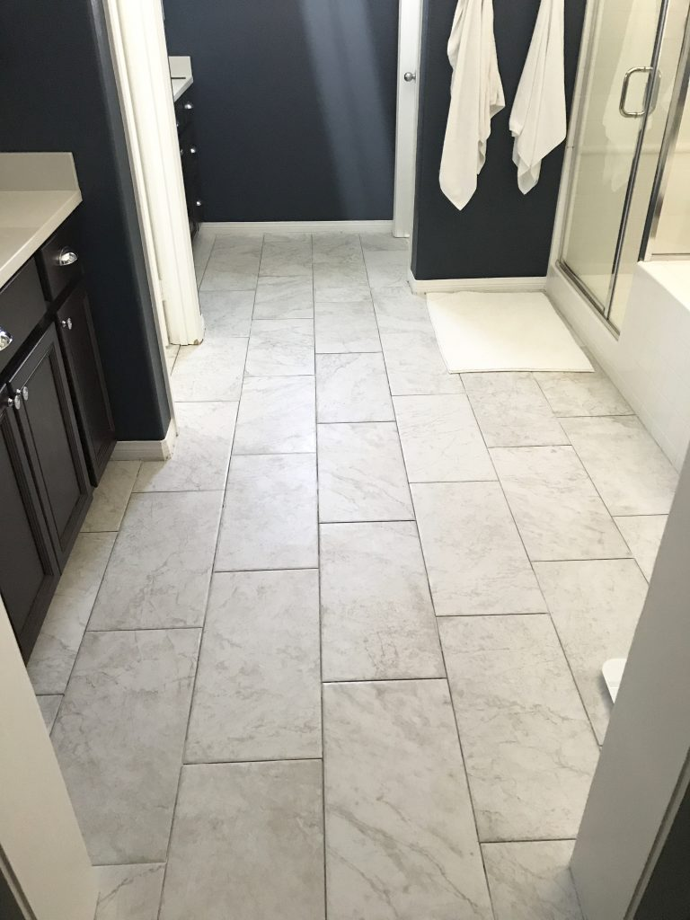 How to prep and tile your bathroom floors!