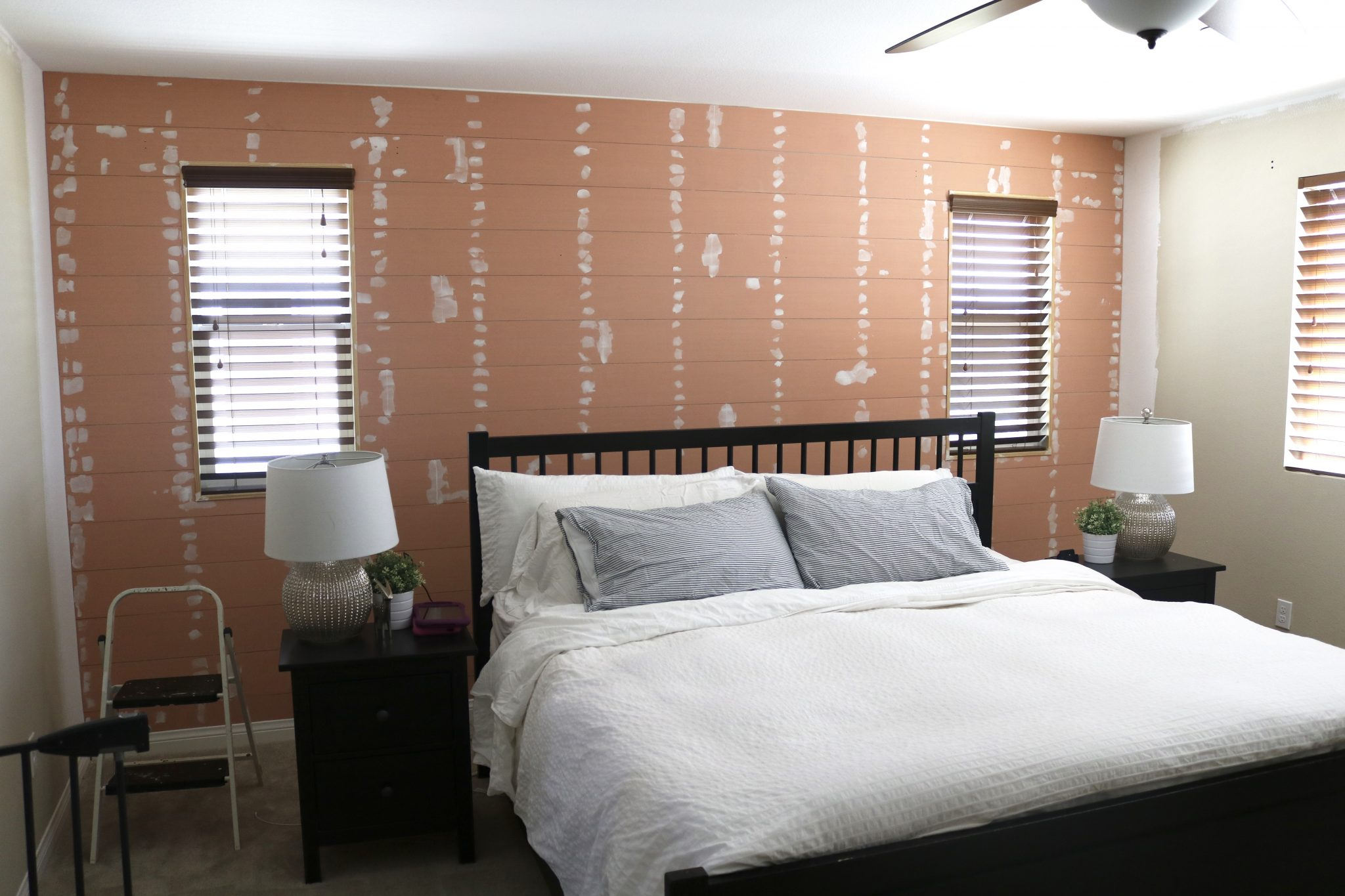 Master Bedroom Makeover Part 2 The Shiplap Wall Timber Crow
